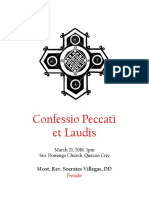 Confessio Peccati Et Laudis Revised