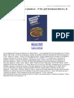 Indústrias de Processos Químicos 4ª Ed