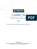 C AUDSEC 731 PDF Questions and Answers