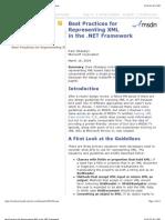 Best Practices for Representing XML in the .NET Framework
