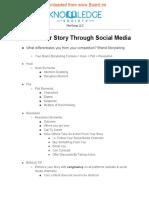 Storytelling Worksheet