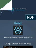OSCON React Architecture