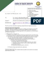 15-25 Protective Service Clarification