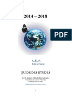Guide Des Etudes Lea 2017 - 2018