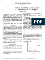 Study of the Vertical Handoff in Heterogeneous Networks and Implement Based on Opnet