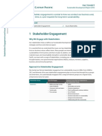 CX SDR2012 A2 Stakeholder Engagement and Issues Materiality Factsheet