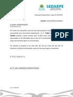 Carta de Recomendacion Jaime