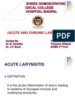 (Acute and Chronic Laryngitis)