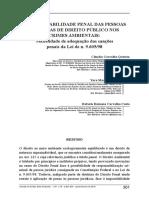 A Responsabilidade Penal Das Pessoas Jurídicas de Direito Público Nos Crimes Ambientais