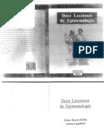 Doce Lecciones de Epistemología E Diaz Leccion 1 y 2