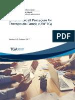 Uniform Recall Procedure Therapeutic Goods Urptg
