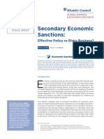 Secondary Economic Sanctions
