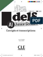 DELF JUNIOR A1_corrigés Et Transcr
