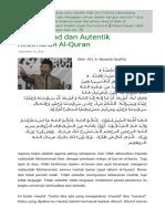 Muhammad Dan Autentik Kebenaran Al-Quran _ Tebuireng Online