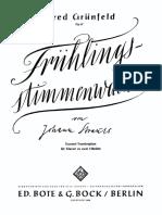 Strauss (Grünfeld) Frühlingsstimmenwalzer Op57