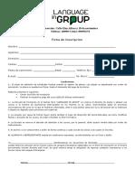 Ficha de Inscripcion Curso de Ingles
