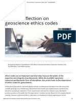 A Brief Reflection on Geoscience Ethics Codes - AusIMM Bulletin