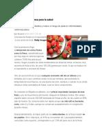 Beneficios de La Fresa Para La Salud