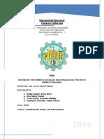 Sistema de Tratamiento de Aguas Industriales Del Proyecto Minero Pukaqaqa