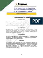 Reglamento de Gestiòn Para Juzgados y Tribunales Con Competencia en Delitos de Femicidio y Otras Formas de Violencia Contra La Mujer