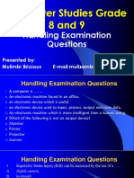 Grade 8 and 9 Handling Examination Question Presentation