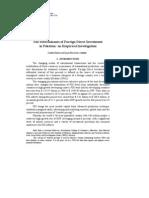 Determinants of Fdi in Pak