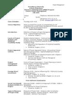 Outline Project Management PU
