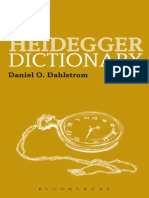 [Bloomsbury Philosophy Dictionaries] Heidegger, Martin_ Heidegger, Martin_ Dahlstrom, Daniel O - The Heidegger Dictionary (2013, Bloomsbury Academic)