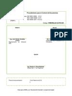 Procedimientos de Control de Documentos Pfd