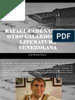 Lope Hernán Chacón - Rafael Cadenas Suma Otro Galardón a La Literatura Venezolana
