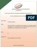 Monografia Cuales Son Los Objetivos Del Control Interno Para La Proteccion de Los Recursos Del Estado en Los Gobiernos Locales Regionales y Nacionales