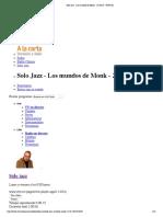Solo Jazz - Los Mundos de Monk - 23-10-15 - RTVE.es