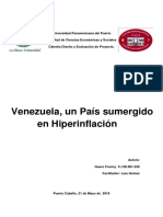 Venezuela, un país sumergido en Hiperinflacion.