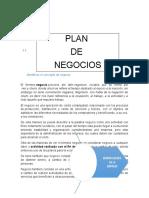 Plan de Negocios Identificar Conceptos
