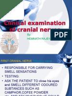 Clinical Examination of Cranial Nerves
