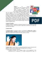 Lenguaje Icónico, Iconografico, Mimica, Oral y Verbal
