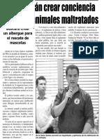 20-05-18 Busca Adrián crear conciencia sobre los animales maltratados