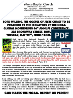 Westboro Baptist Church picket notice NOAA Global Monitoring 46th Conference