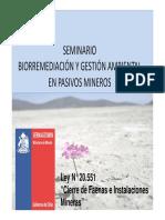 I Seminario Bioremediacion Final II LEY CIERRE [Modo de Compatibilidad]