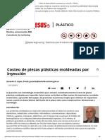 Costeo de Piezas Plásticas Moldeadas Por Inyección - Plástico