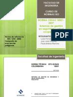 Norma OSHAS, norma de referencia ntc 1692
