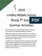 rising 7th grade summer activities