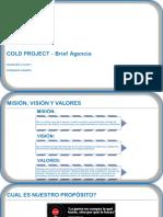 Ejemplo de Cold Project Brief Agencia Digital