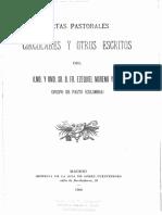 Cartas Pastorales, Circulares y Otros Escritos - San Ezequiel Moreno Diaz