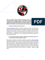 BSA Software Audits Top 20 FAQ