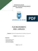 Plan Mejoramiento Area Liderazgo
