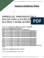 Arreglos, Armonización y Solos Con La Ayuda Del Band in a Box y Muse Score _ Escuela de Musica Moderna Ximo Faus