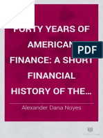 40 Years of American Finance 1898