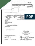 Federal Criminal Complaint against Gary Albro