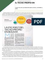 0. La Escasez Del Techo Propio en Bolivia